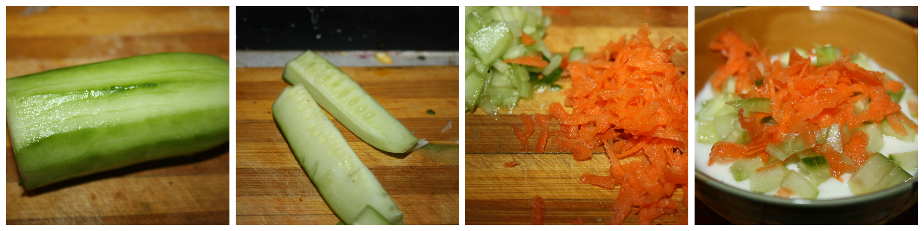 Cucumber Carrot Raita/Cucumber carrot yogurt dip