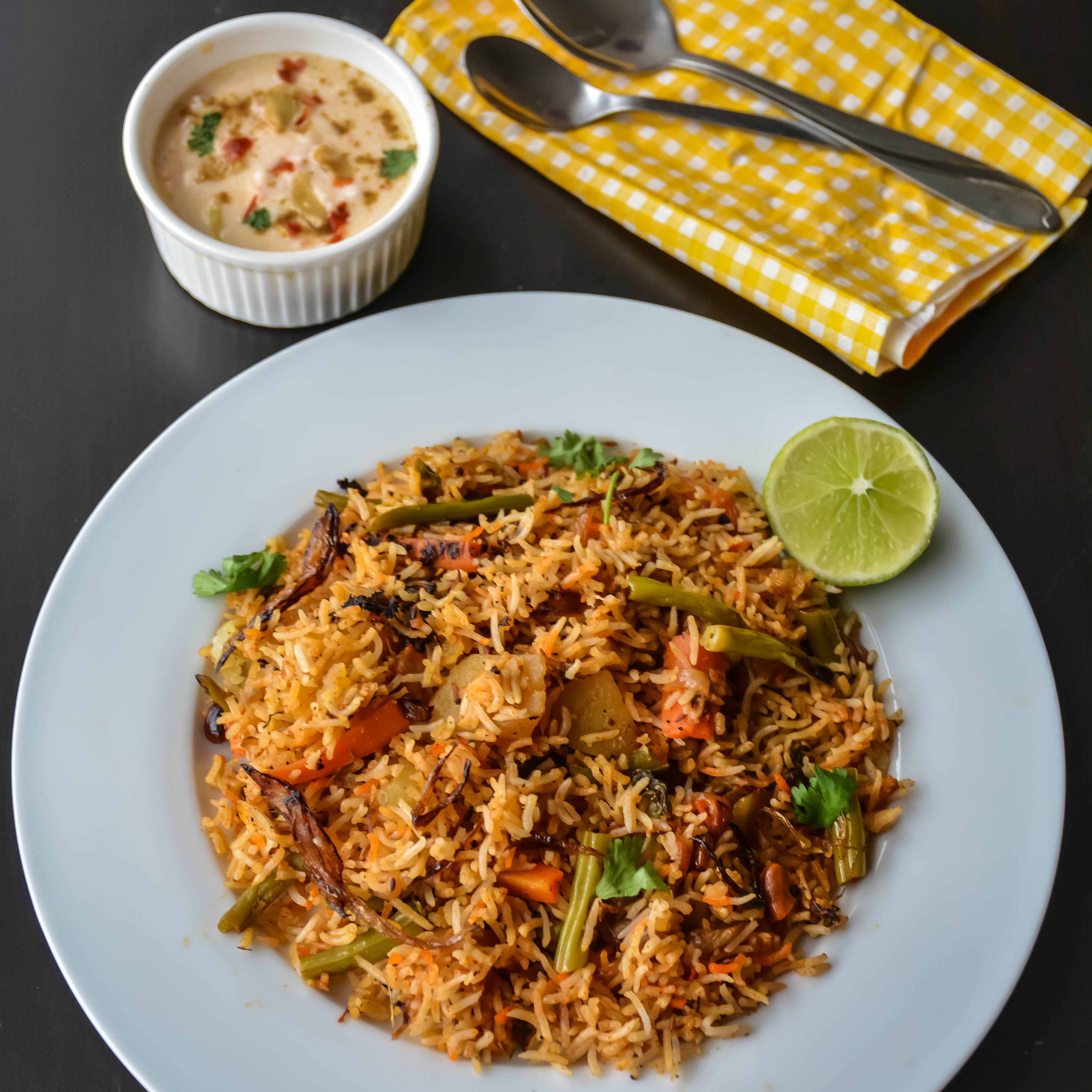 Restaurant Style Vegetable Biryani Recipe Relish The Bite