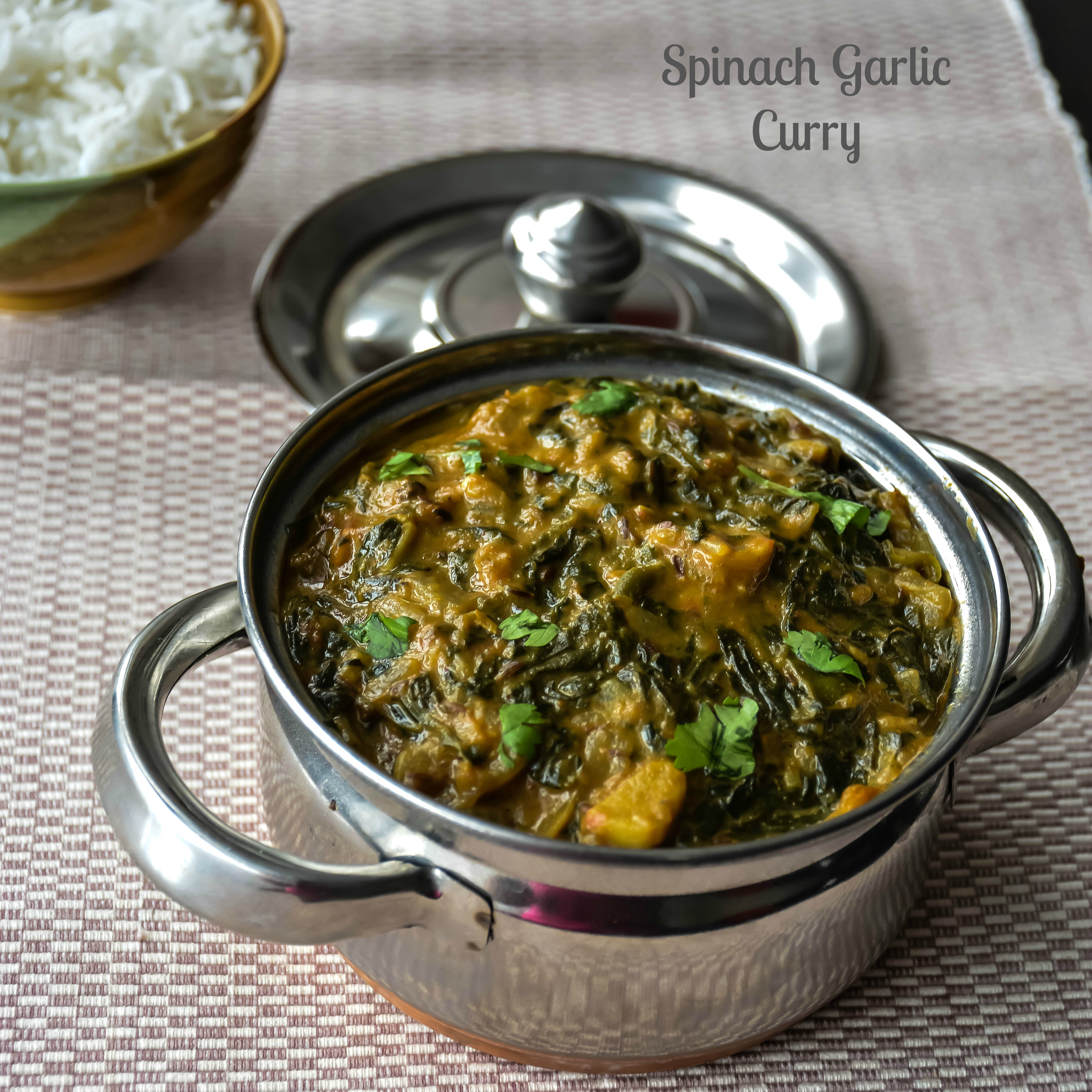 Spinach Garlic Curry
